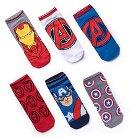 Boys' 6-Pack Avengers Ankle Socks - M