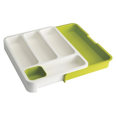 Joseph Joseph DrawerStore™ Expandable Drawer Organizers – White/Green