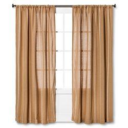 Burlap Curtain Panel Nate Berkus Target