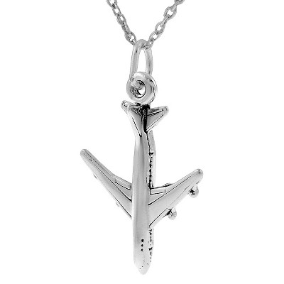 """Women's Tressa Collection Sterling Silver Airplane Necklace  (18"""")"""