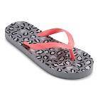 Girl's Hester Flip Flop Sandals - Grey/Fuchsia