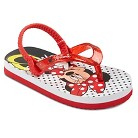 Toddler Girl's Minnie Mouse Flip Flop Sandals - Red