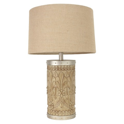 hunt carved fleur de lis table lamp product details page. Black Bedroom Furniture Sets. Home Design Ideas