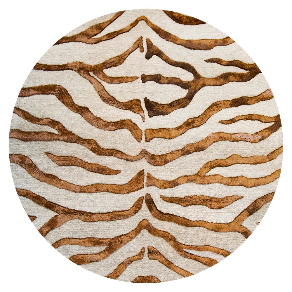 nuloom hand tufted wool radiant zebra area rug