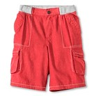 Boys Chambray Cargo Short - Red