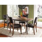 Hillsdale Cameron 5-Piece Rectangle Dining Table with Padded Back Dining Chairs Set - Chestnut Brown