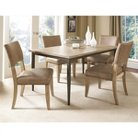 5 Piece Charleston Rectangle Dining Table with Padded Back Dining Chairs Set Wood/Desert Tan - Hillsdale
