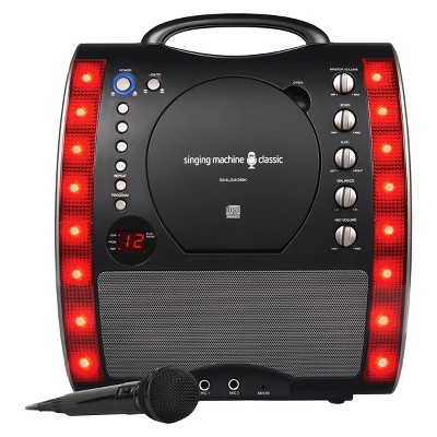 Singing Machine SML343BK Portable Plug-n-Play CDG Karaoke System with Microphone