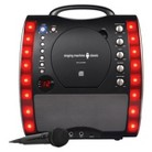 Singing Machine Portable Plug and Play CDG Karaoke System with Microphone - Black (SML343BK)