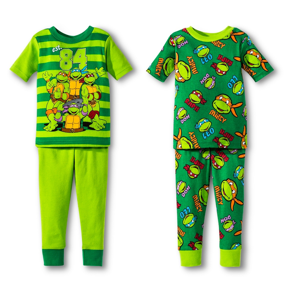 2fb67a002 Toddler Boys Teenage Mutant Ninja Turtles 4 Piece Mix   Match Pajama