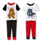 Toddler Boys' Darth Vader & Chewbacca 4-Piece Mix & Match Pajama Set