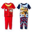 Toddler Boys' Paw Patrol 4-Piece Mix & Match Pajama Set