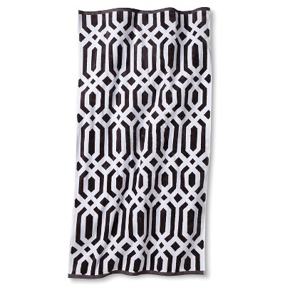Clarke Ikat Sheared Beach Towel - Molten Lead - Fieldcrest™