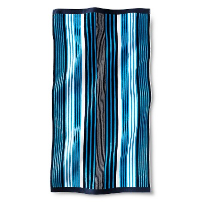 Luxe Beach Towel - Blue Stripe