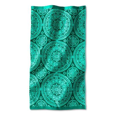Luxe Medallion Beach Towel -  Green
