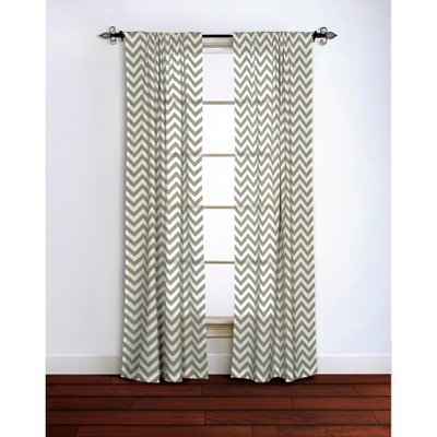 Chevron Curtain Panel - Gray (42''x84'')