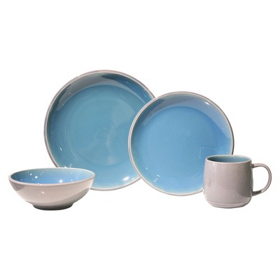 Baum Bros. Mercer 16 Piece Dinneware Set - Light Blue