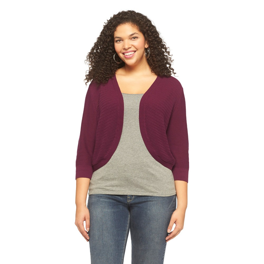 Mossimo Supply Co. Plus Size 3/4 Sleeve Cropped Cardigan Sweater-Mossimo Supply Co.