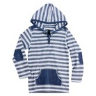 Boys' Striped Long Sleeve Hooded Henley