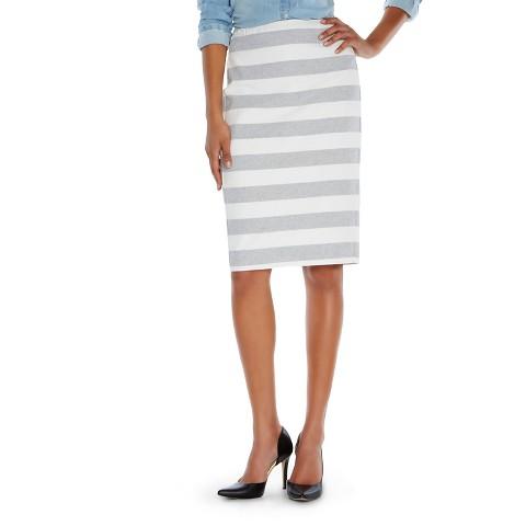 s striped pencil skirt merona 174 white black
