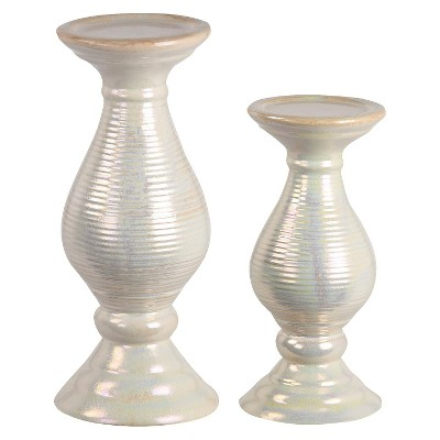 Privilege Candle Holder Set of 2 - Off White