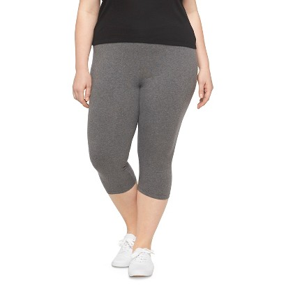 Women's Plus Size Capri Legging Pants Gray 4X-Ava & Viv