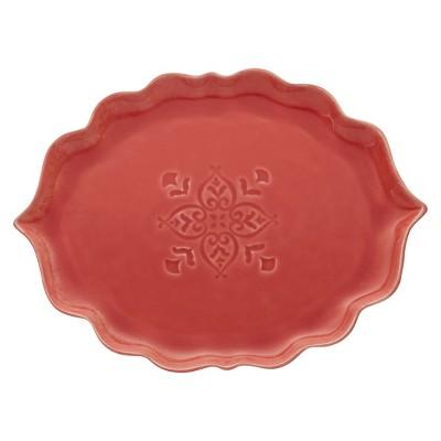Serving Platter Easy Exotic Tomato Stoneware