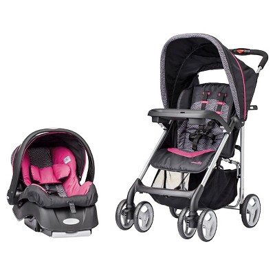 Evenflo JourneyLite Travel System - Party Pink