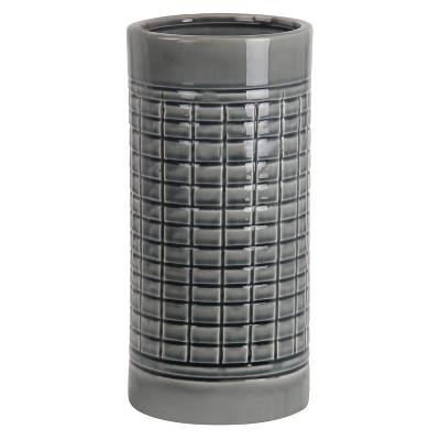 """Privilege Small Ceramic Vase - Grey (13"""")"""