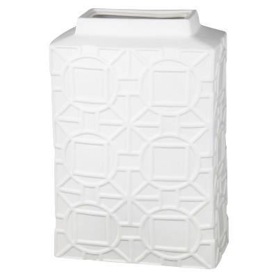 "Privilege Large Ceramic Vase - White (18"")"