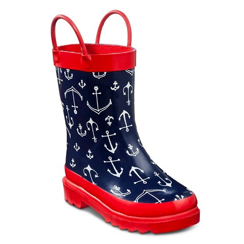 toddler boy s anchor boots navy target