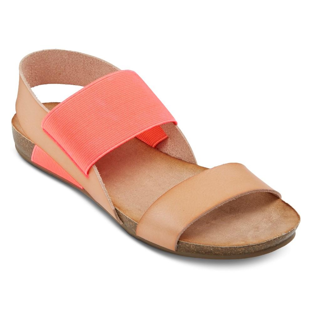 ab946f566bdc Mossimo Supply Co. Women s Tameka Elastic Quarter Strap Sandals - Natural Hot  Pink 9