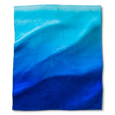 Beach Towel For Two Blue Ombre