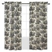 Waverly Country Life Curtain Panel - Black (42''X84'')