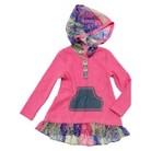 Infant Toddler Girls' Long Sleeve Hooded Tunic