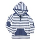 Toddler Boys' Striped Hooded Pullover - Navy