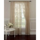 Laura Ashley Frosting Sheer Curtain Panel  Pair