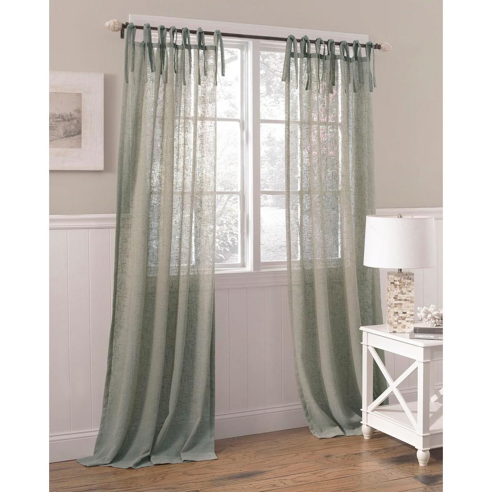Laura Ashley Danbury Sheer Curtain Panel Blue 40 39 39 X84 39 39 Poptake