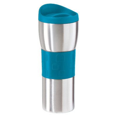 Oggi Double Wall Stainless Steel Travel Mug - Blue