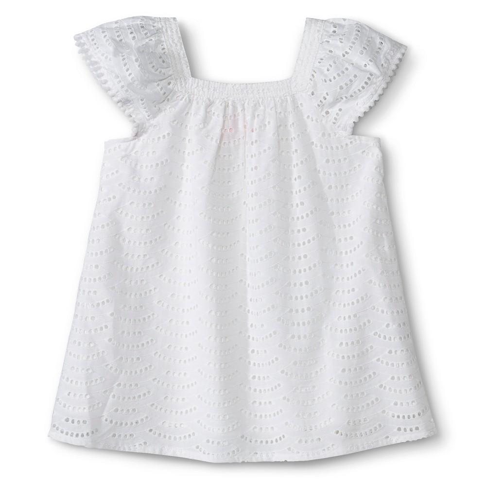 3872a339639 UPC 490310310737 product image for Toddler Girls Square Neck Eyelet Dress -  Fresh White 12 M