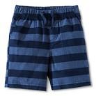 Toddler Boys Striped Chino Short - Metallic Blue