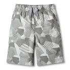 Toddler Boys Geometric Chino Short - Silver Foil