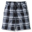 Toddler Boys Plaid Chino Short - Charcoal