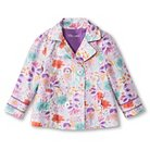 Toddler Girls' Floral Trench Coat - White