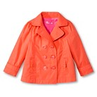 Toddler Girls' Trench Coat - Melon