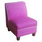 Kids Upholstered Slipper Chair - Pink Polka Dot