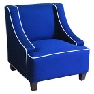 Kids Upholstered Swoop Arm Chair - Blue