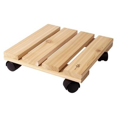 """Plastec 12"""" Cedar Plant Caddy"""