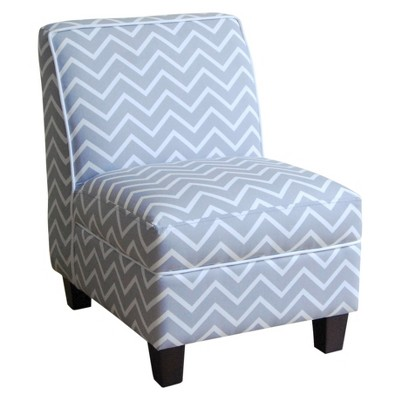 Kids Upholstered Slipper Chair - Gray Chevron - Circo™
