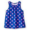 Toddler Girls Strawberry Swing Tank - Cabana Blue